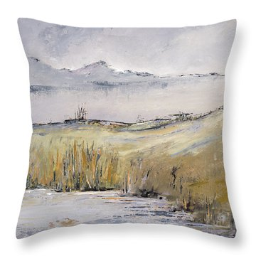 Landscape In Gray Throw Pillow