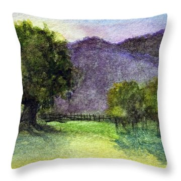 Landscape In Watercolor -1 Throw Pillow