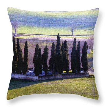 Throw Pillow featuring the photograph Landscape by Jean Bernard Roussilhe