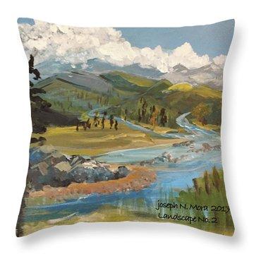 Landscape No._2 Throw Pillow