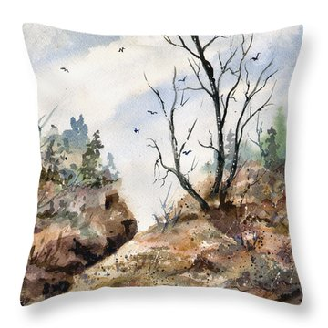 Throw Pillow featuring the painting Landscape by Sam Sidders