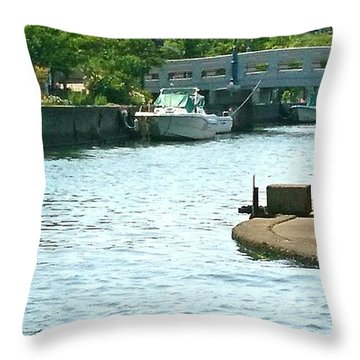Japanese Seaside Throw Pillow