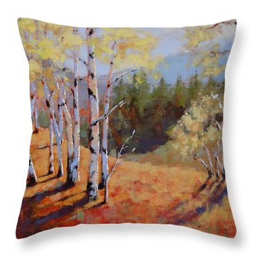 Landscape Series 1 Throw Pillow by Laura Lee Zanghetti