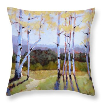 Landscape Series 2 Throw Pillow by Laura Lee Zanghetti