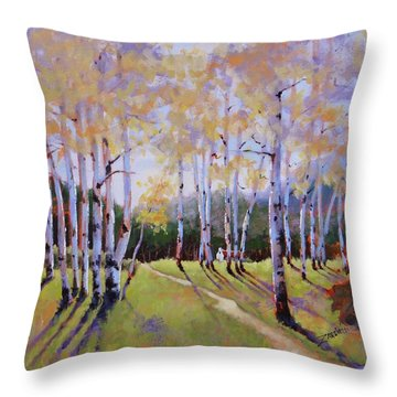 Landscape Series 3 Throw Pillow by Laura Lee Zanghetti