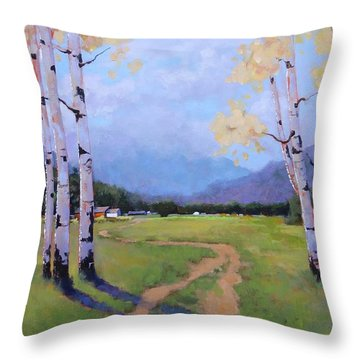 Landscape Series 4 Throw Pillow by Laura Lee Zanghetti