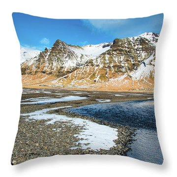 Throw Pillow featuring the photograph Landscape Sudurland South Iceland by Matthias Hauser