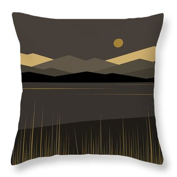 Landscape Throw Pillow by Val Arie