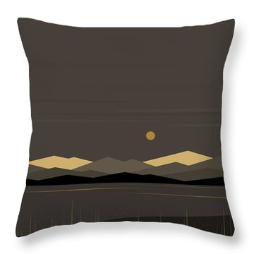Landscape - Vertical Throw Pillow by Val Arie
