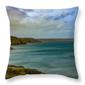 Landscape View  Throw Pillow by Claire Whatley