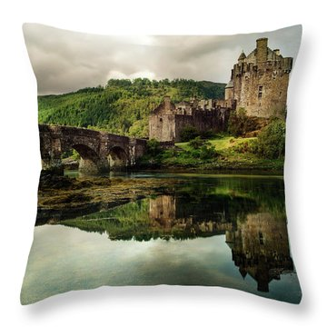 Landscape With An Old Castle Throw Pillow