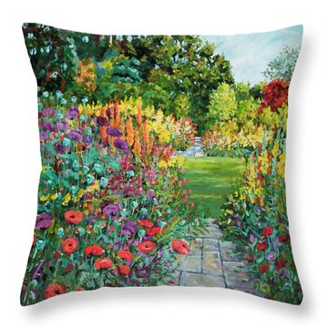 Landscape With Poppies Throw Pillow