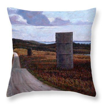 Landscape With Silos Throw Pillow