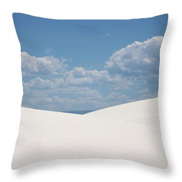 Landscapes Of White Sands 11 Throw Pillow