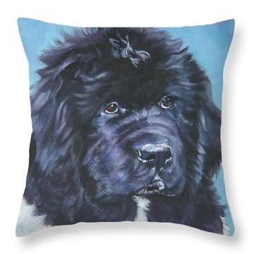 Landseer Newfoundland Puppy Throw Pillow