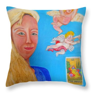 L'ange Throw Pillow