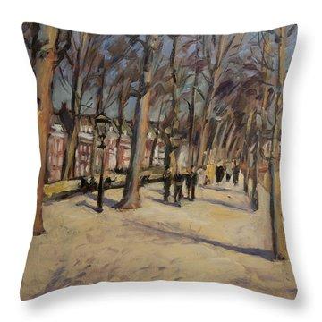 Lange Vijverberg The Hague Throw Pillow