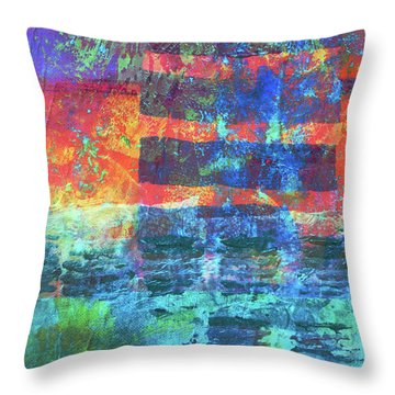 Throw Pillow featuring the painting Language by Nancy Merkle