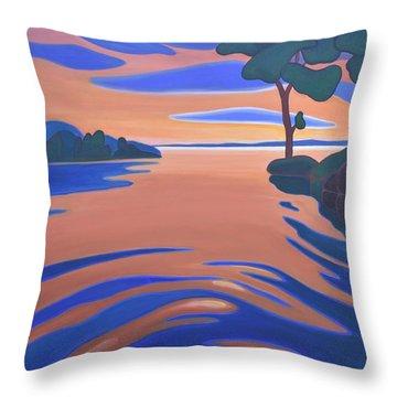 Languid Evening Throw Pillow