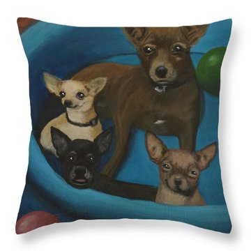 Lanice's Dogs Throw Pillow
