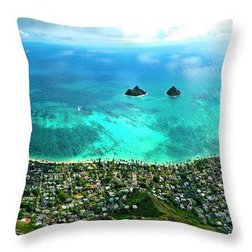 Lanikai Over View Throw Pillow