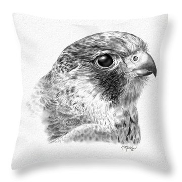 Lanner Falcon Throw Pillow