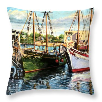 Lannon And Ardelle Gloucester Ma Throw Pillow by Eileen Patten Oliver