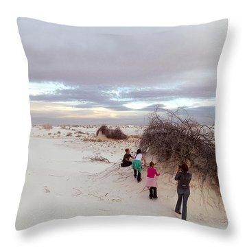 Exploring The Dunes Throw Pillow
