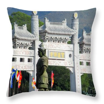 Throw Pillow featuring the photograph Lantau Island 51 by Randall Weidner