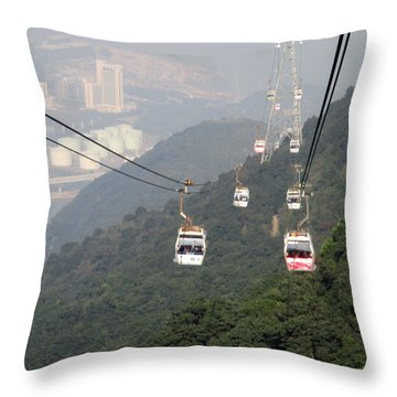 Throw Pillow featuring the photograph Lantau Island 53 by Randall Weidner