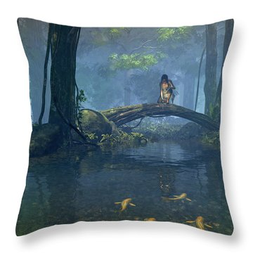 Lantern Bearer Throw Pillow