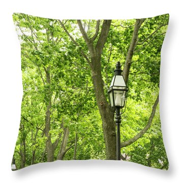 Lanterns Among The Trees Throw Pillow
