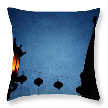 Lanterns- Art By Linda Woods Throw Pillow