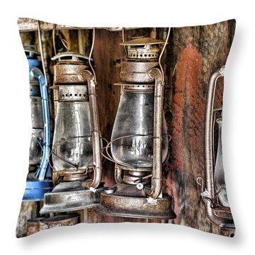 Lanterns Throw Pillow by Kelley King