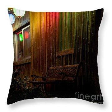 Lanterns Light The Bench Throw Pillow
