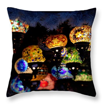 Lanterns - Night Light Throw Pillow