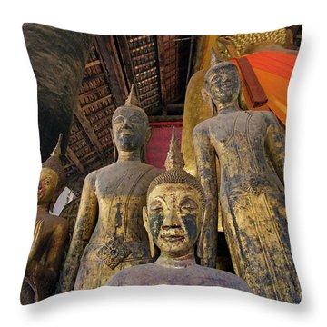 Laos_d186 Throw Pillow by Craig Lovell