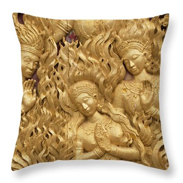 Throw Pillow featuring the photograph Laos_d60 by Craig Lovell