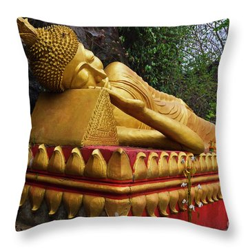 Throw Pillow featuring the photograph Laos_d602 by Craig Lovell