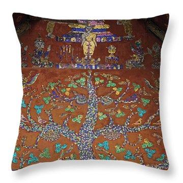 Laos_d92 Throw Pillow by Craig Lovell