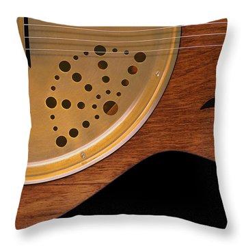 Lap Guitar I Throw Pillow by Mike McGlothlen