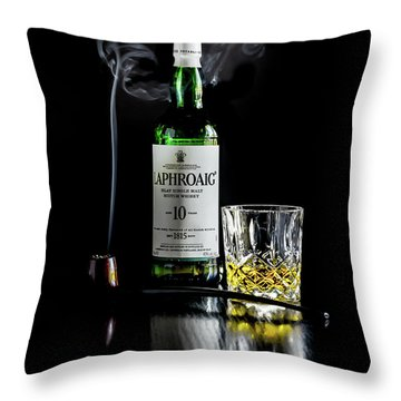 Whiskey And Smoke Throw Pillow