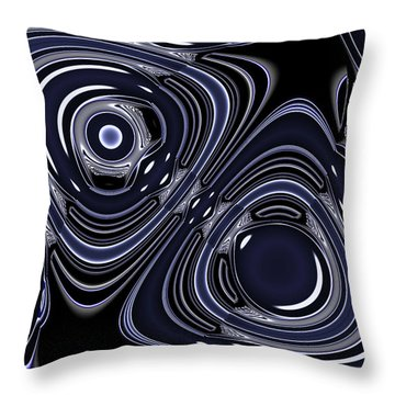 Lapis And Chrome Abstract Throw Pillow