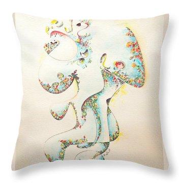 Lapis Lazuli Bejeweled Fertility Goddess Throw Pillow
