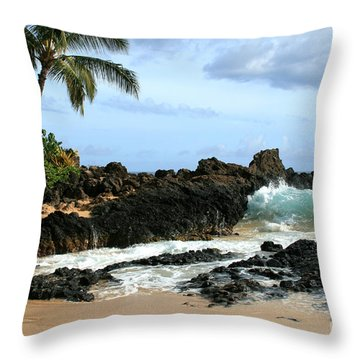Lapiz Lazuli Stone Aloha Paako Aviaka Throw Pillow