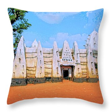 Larabanga Mosque Throw Pillow