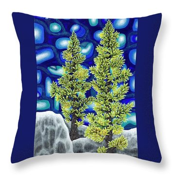 Larch Dreams 1 Throw Pillow by Rebecca Parker