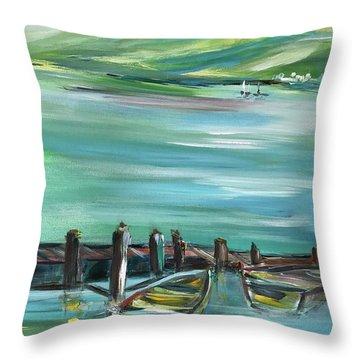 Large Acrylic Painting Throw Pillow