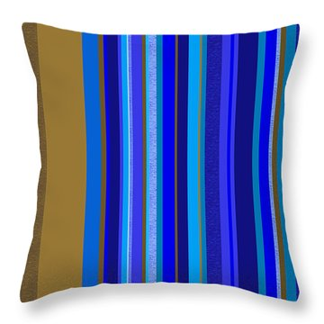 Large Blue Abstract - Panel Two Throw Pillow