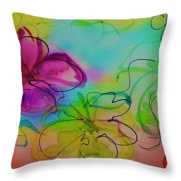 Large Flower 2 Throw Pillow